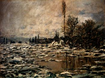 Claude Oscar Monet : Break-up Of Ice, Lavacourt