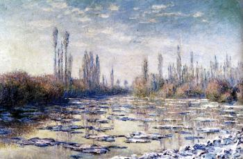 Claude Oscar Monet : Floating Ice Near Vetheuil