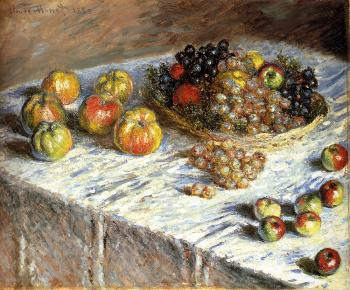 Claude Oscar Monet : Apples And Grapes