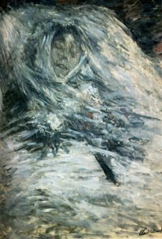 Claude Oscar Monet : Camille Monet On Her Deathbed