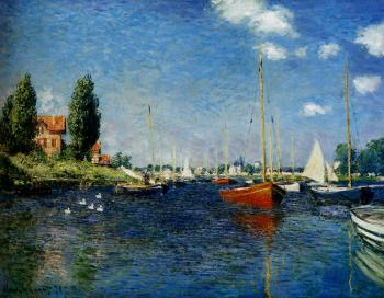 Claude Oscar Monet : Argenteuil (Red Boats)