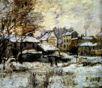 Claude Oscar Monet : Snow Effect With Setting Sun