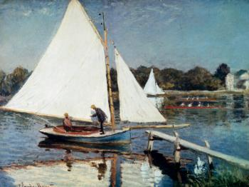 Claude Oscar Monet : Sailing At Argenteuil