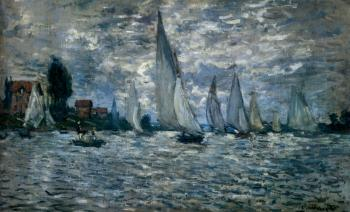 Claude Oscar Monet : The Boats: Regatta At Argenteuil