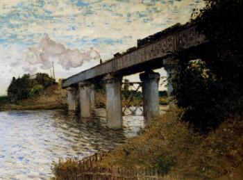 Claude Oscar Monet : The Railway Bridge At Argenteuil