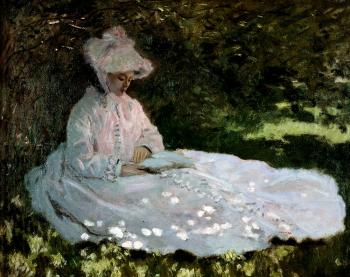 Claude Oscar Monet : A Woman Reading