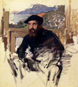 Claude Oscar Monet : Self Portrait In His Atelier