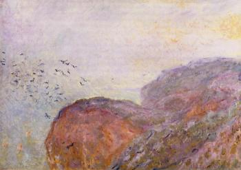Claude Oscar Monet : A Cliff near Dieppe