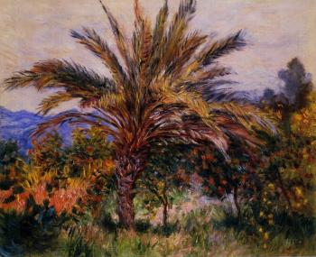 Claude Oscar Monet : A Palm Tree at Bordighera