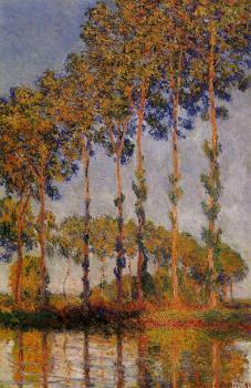 Claude Oscar Monet : A Row of Poplars