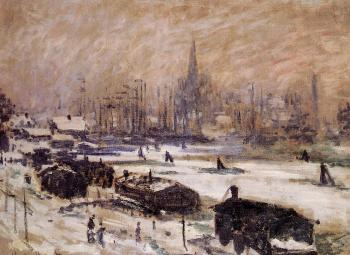 Claude Oscar Monet : Amsterdam in the Snow