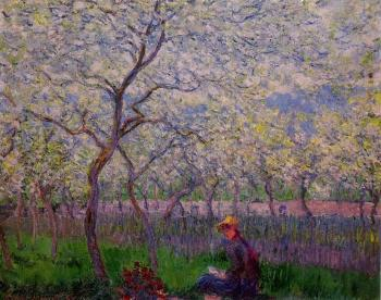 Claude Oscar Monet : An Orchard in Spring
