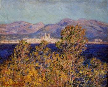 Claude Oscar Monet : Antibes Seen from the Cape, Mistral Wind