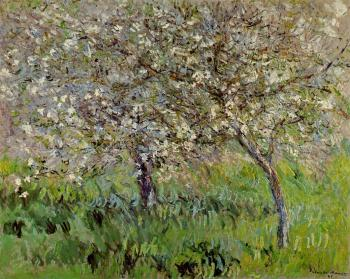 Claude Oscar Monet : Apple Trees in Bloom at Giverny