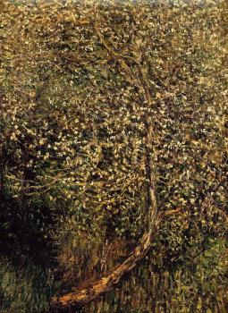Claude Oscar Monet : Apple Trees in Blossom by the Water