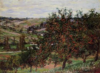 Claude Oscar Monet : Apple Trees near Vetheuil