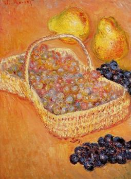Basket of Graphes, Quinces and Pears