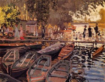 Claude Oscar Monet : Bathers at La Grenouillere