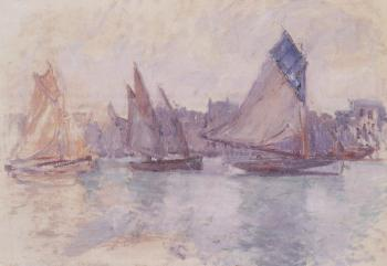 Boats in the Port of Le Havre