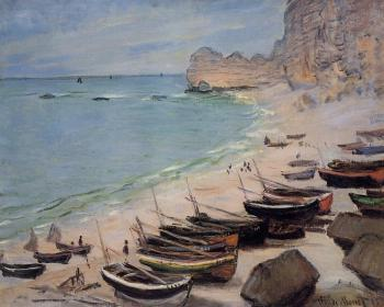 Boats on the Beach, Etretat