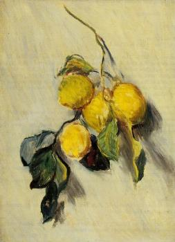 Claude Oscar Monet : Branch of Lemons