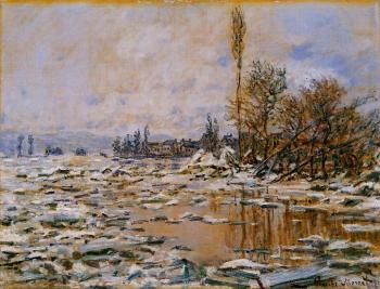 Claude Oscar Monet : Breakup of Ice, Grey Weather