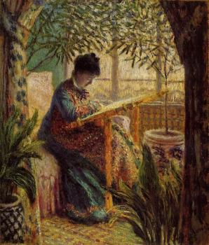 Claude Oscar Monet : Camille Embroidering