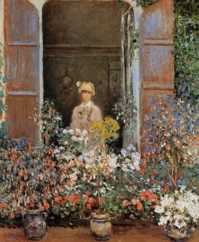 Claude Oscar Monet : Camille Monet at the Window, Argentuil