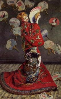 Claude Oscar Monet : Camille Monet in Japanese Costume
