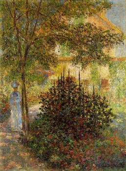 Claude Oscar Monet : Camille Monet in the Garden at the House in Argenteuil