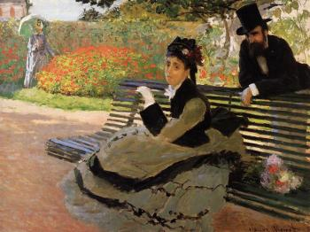 Claude Oscar Monet : Camille Monet on a Garden Bench
