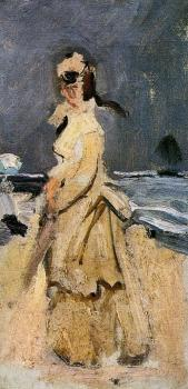 Claude Oscar Monet : Camille on the Beach