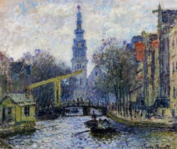 Claude Oscar Monet : Canal in Amsterdam