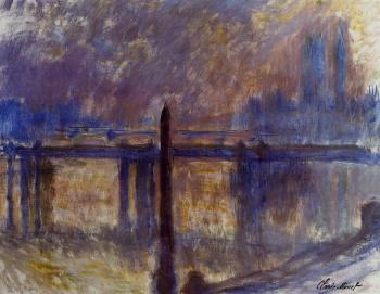 Claude Oscar Monet : Charing Cross Bridge and Cleopatra's Needle