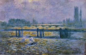 Claude Oscar Monet : Charing Cross Bridge, Reflections on the Thames