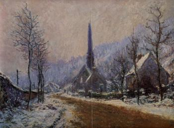 Claude Oscar Monet : Church at Jeufosse, Snowy Weather