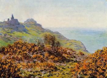 Claude Oscar Monet : Church at Varengeville and the Gorge of Les Moutiers