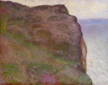 Claude Oscar Monet : Cliff at Petit Ailly in Grey Weather