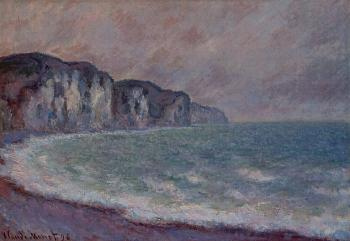 Claude Oscar Monet : Cliff at Pourville