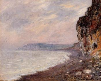 Claude Oscar Monet : Cliff at Pourville in the Fog