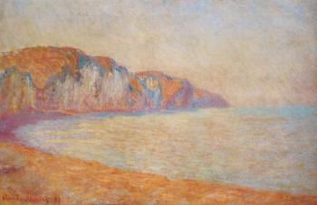 Claude Oscar Monet : Cliff at Pourville in the Morning