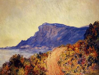 Claude Oscar Monet : Coastal Road at Cap Martin, near Menton