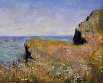 Claude Oscar Monet : Edge of the Cliff, at Pourville