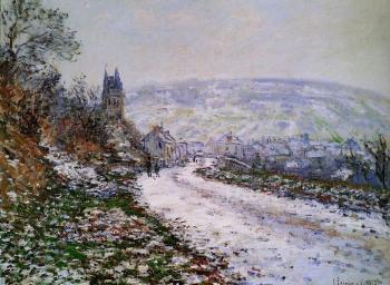 Claude Oscar Monet : Entering the Village of Vetheuil in Winter
