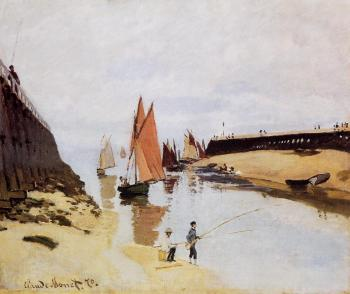 Claude Oscar Monet : Entrance to the Port of Trouville