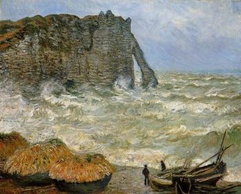 Claude Oscar Monet : Etretat, Rough Seas
