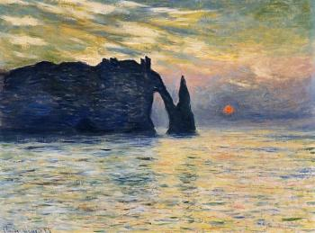 Claude Oscar Monet : Etretat, Sunset