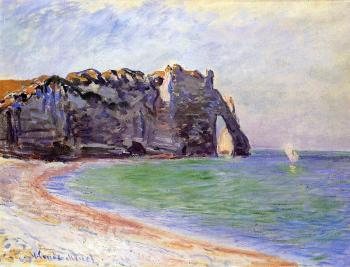 Claude Oscar Monet : Etretat, the Porte d'Aval