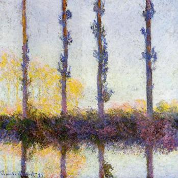 Claude Oscar Monet : Four Trees