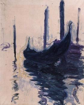 Claude Oscar Monet : Gondola in Venice